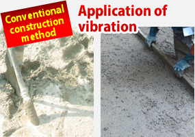 Application of vibration