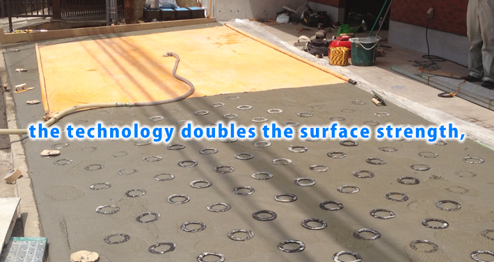 the technology doubles the surface strength,