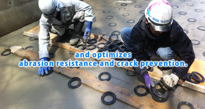 and optimizes abrasion resistance and crack prevention.