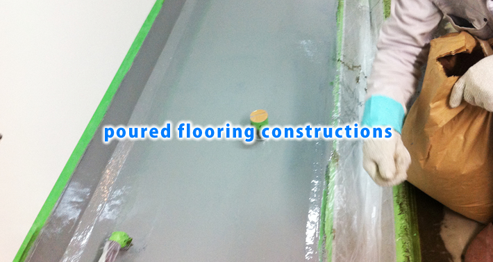 poured flooring constructions